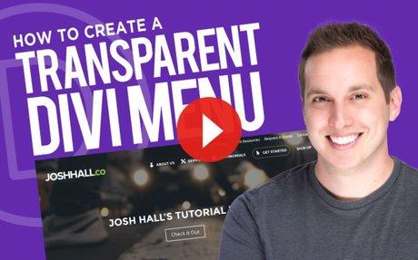 How to Create a Transparent Divi Primary & Secondary Menu
